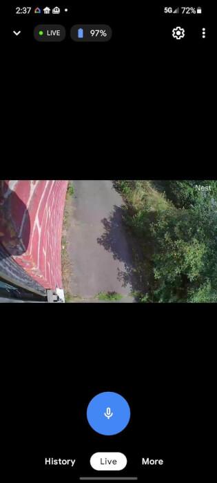Ảnh chụp màn hình Nest Cam Điện thoại thông minh 1