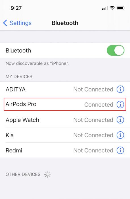 Ngắt kết nối thiết bị Bluetooth.  Cách khắc phục sự cố AirPods không reset lại được