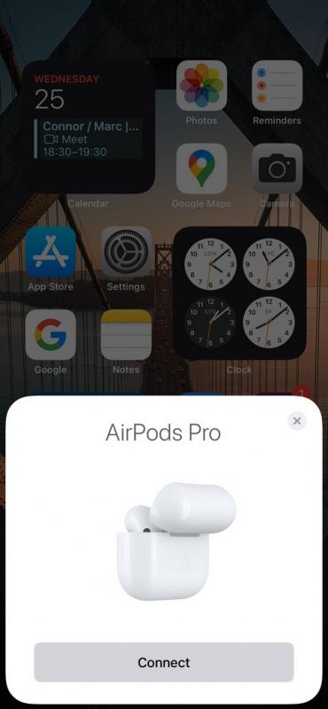 Ghép nối ảnh chụp màn hình AirPods