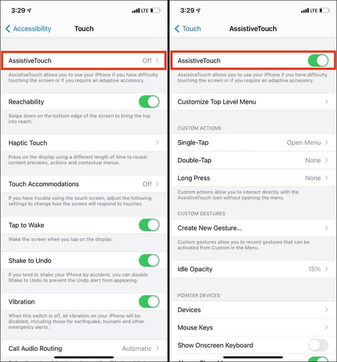 Cài đặt trợ năng cảm ứng AssistiveTouch trong iOS 14